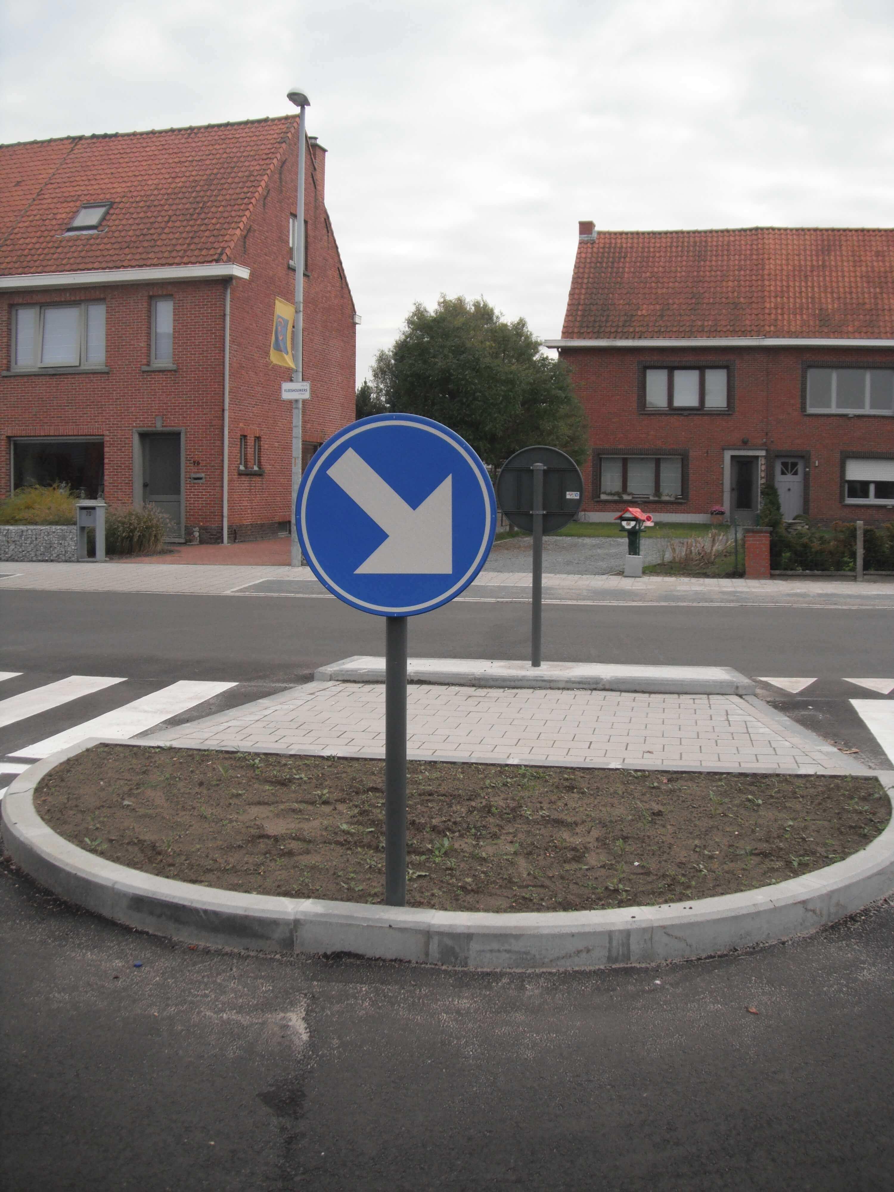 verkeerssignalisatie oversteekplaats voor voetgangers